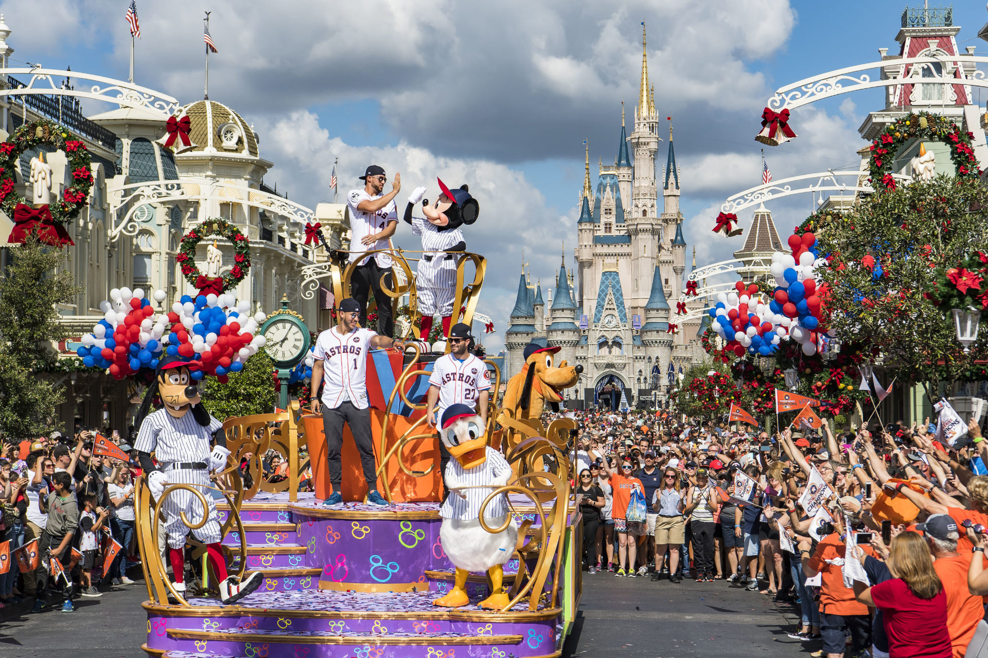 "Los campeones Astros de Houston en ""Disney World"""